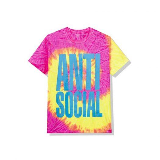 Anti Social Social Club Heatwave Tee Pink Tie Dye