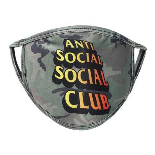 Anti Social Social Club Comic Sans Mask Camo