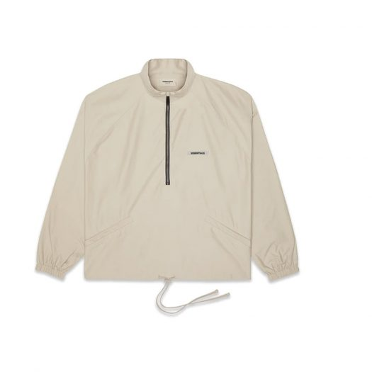 Fear Of God Essentials Half-zip Track Jacket Olive/khaki