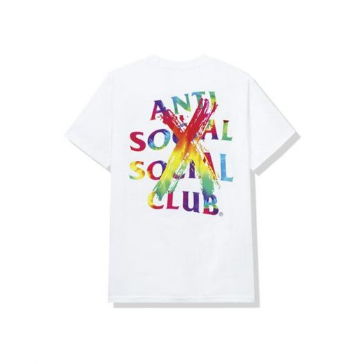 Anti Social Social Club Cancelled Rainbow Tee White
