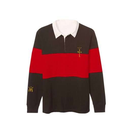 Travis Scott x McDonald's Cactus Jack Rugby Polo Brown/Red