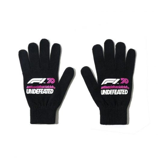 Anti Social Social Club UNDFTD X F1 Gloves Black