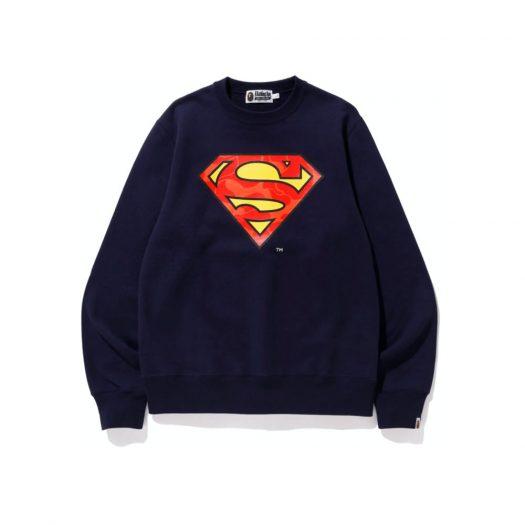 Bape X Dc Superman Crewneck Navy