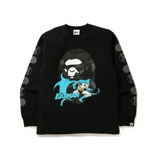 Bape X Dc Batman Long Sleeve Tee Black