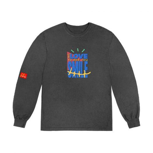 Travis Scott x McDonald's Smile L/S T-Shirt Washed Black