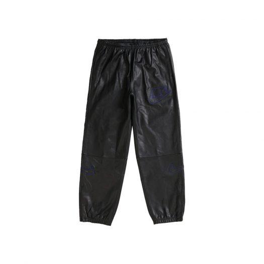 Supreme Nike Leather Warm Up Pant Black