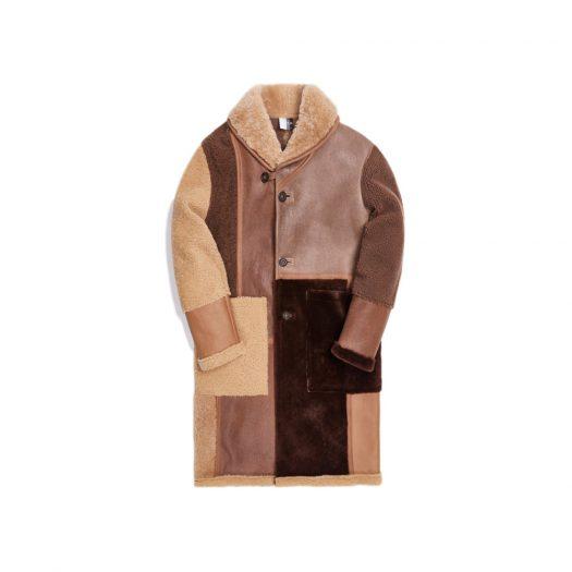 Kith Shearling Patchwork Becker Coat Tan/Multi