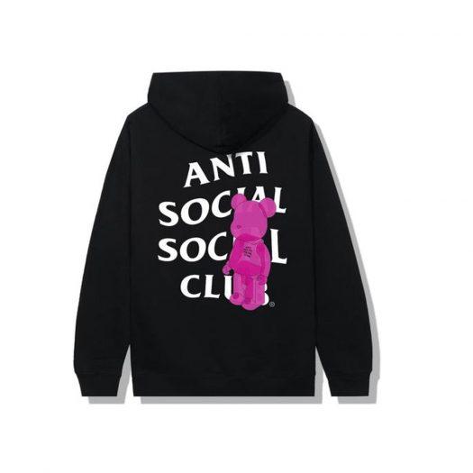 Anti Social Social Club Bearbrick Hoodie Black