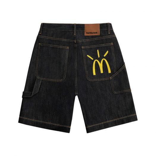 Travis Scott x McDonald's Cactus Arches Denim Shorts Indigo