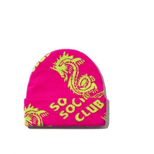 Anti Social Social Club Garden Grove Knit Cap Pink
