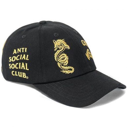 Anti Social Social Club Just My Luck Cap Black/Gold