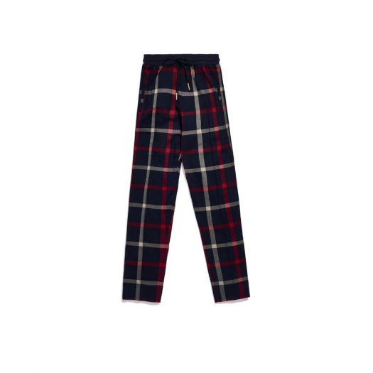 Kith for Bergdorf Goodman Roger Track Pant Navy/Red Plaid
