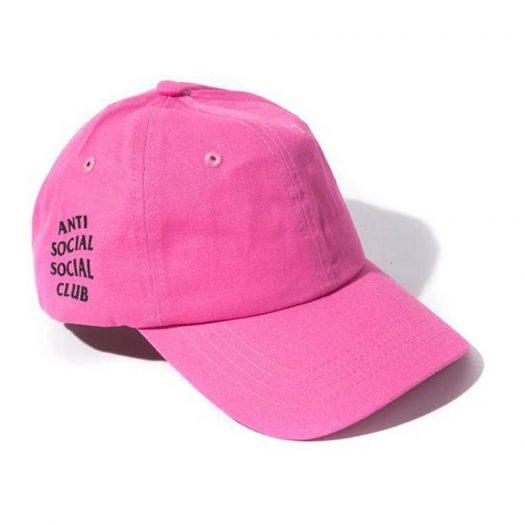 Anti Social Social Club WEIRD Cap Hot Pink