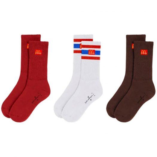 Travis Scott x McDonalds CJ Arches Sock Pack Multi
