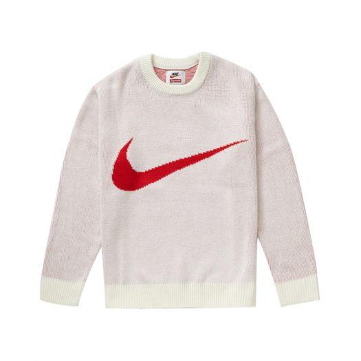 Supreme Nike Swoosh Sweater White
