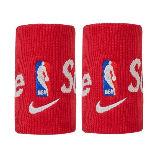 Supreme Nike NBA Wristbands (Pack Of 2) Red
