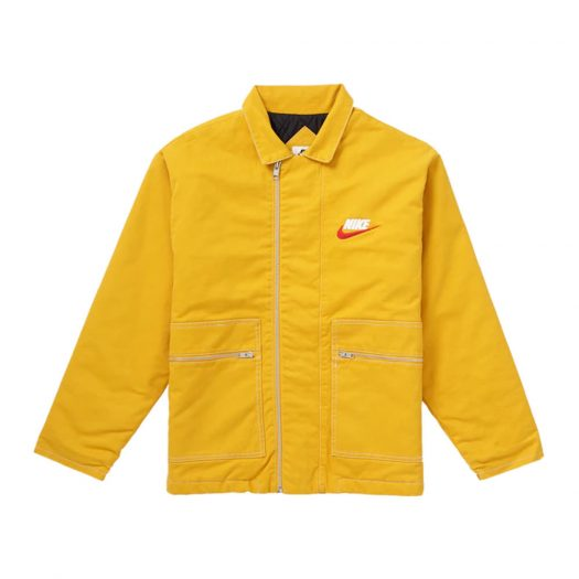 Supreme Nike Double Zip Quilted Work Jacket Mustard