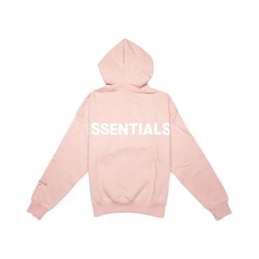 Fear Of God Essentials Pink 3m Logo Pullover Hoodie Blush