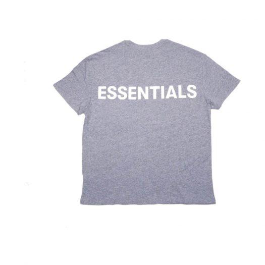 Fear Of God Essentials 3m Logo Boxy T-shirt Dark Heather Grey/grey