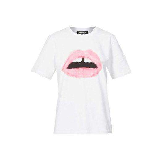 Markus Lupfer Alex Lara Lip Graphic-print Cotton T-shirt