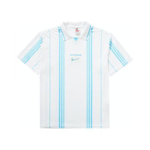 Supreme Nike Jewel Stripe Soccer Jersey White