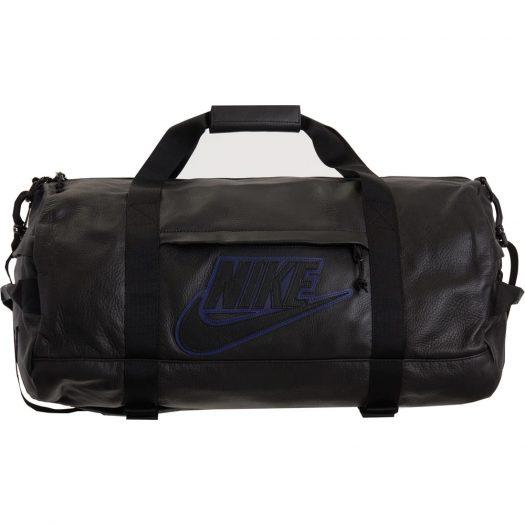 Supreme Nike Leather Duffle Bag Black