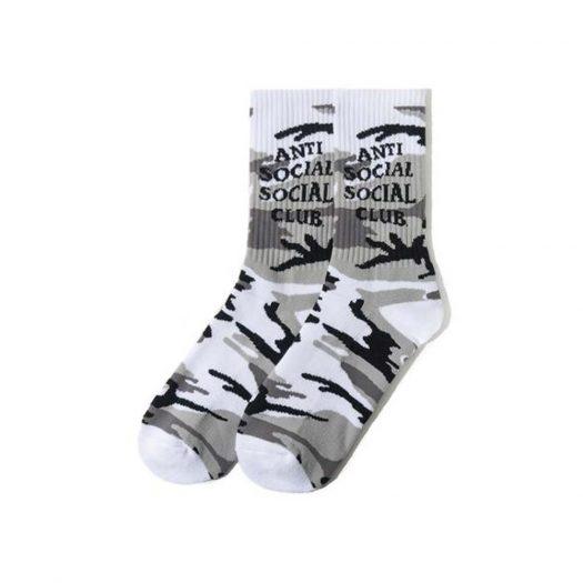 Anti Social Social Club Gone Socks Snow Camo