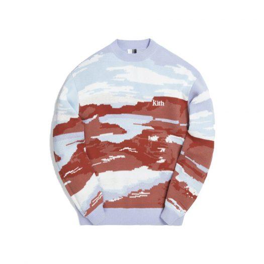 Kith Canyon Point Crewneck Sweater Mauve/Multi