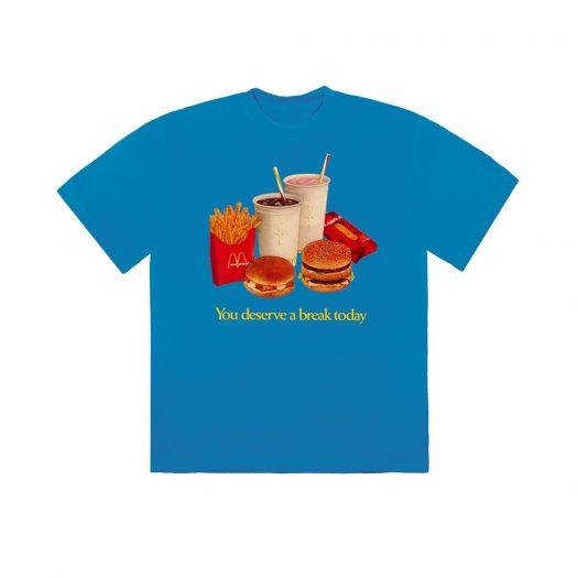 Travis Scott x McDonald's Deserve A Break III T-Shirt Blue