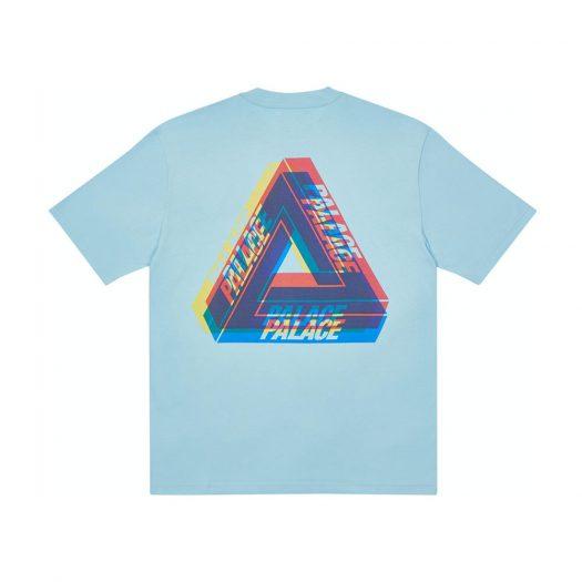Palace Tri-Ferg Colour Blur T-Shirt Pale Blue