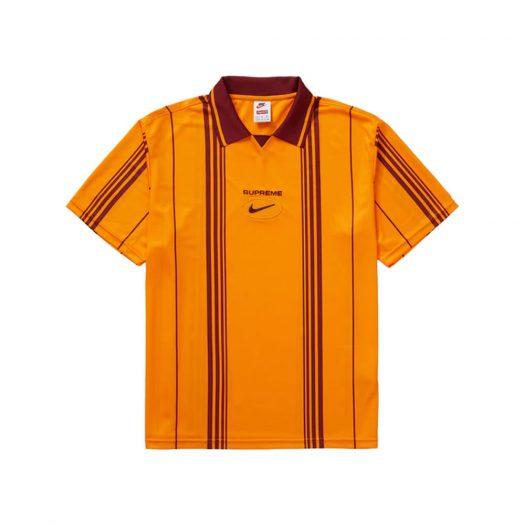 Supreme Nike Jewel Stripe Soccer Jersey Orange