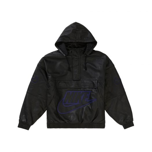 Supreme Nike Leather Anorak Black
