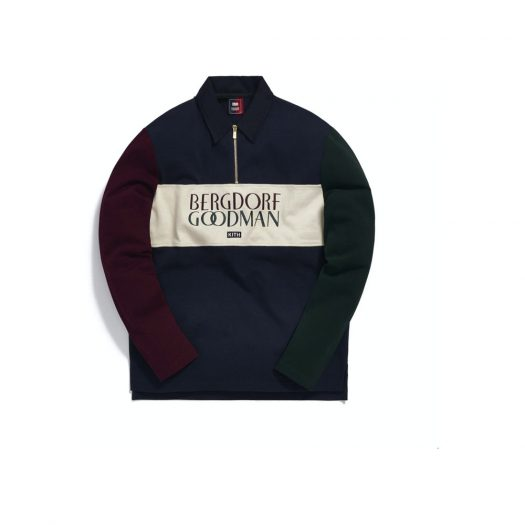 Kith for Bergdorf Goodman L/S Quarter Zip Navy