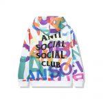 Anti Social Social Club Headrush All Over Hoodie White