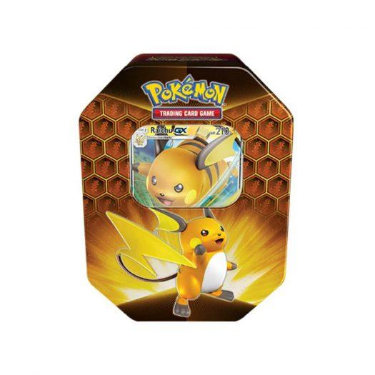 2020 Pokemon Hidden Fates Raichu Tin