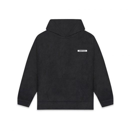 Fear Of God Essentials Polar Fleece Hoodie Dark Slate/stretch Limo/black