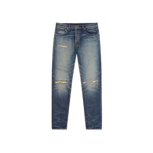 Fear Of God Essentials Denim Jeans Distressed Indigo