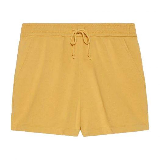 Gucci x The North Face Web Print Cotton Shorts Mustard