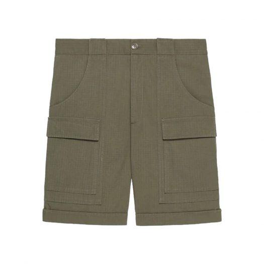 Gucci x The North Face Nylon Shorts Military Green