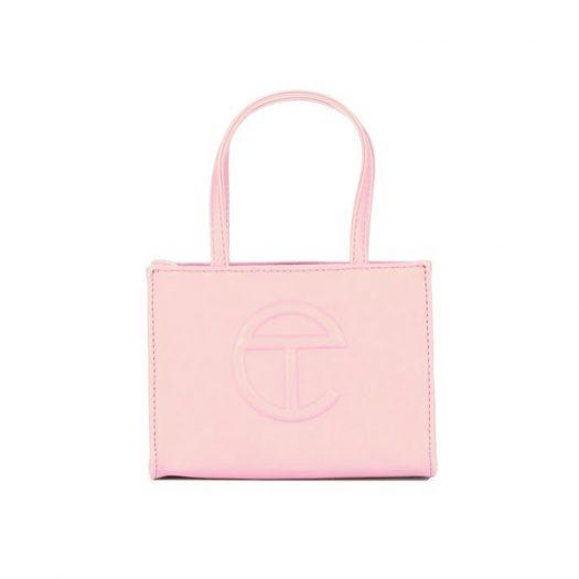 Telfar Shopping Bag Small Bubblegum Pink in Vegan Leather with Silver-tone
