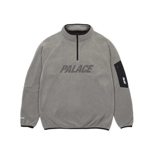 Palace Polartec 1/4 Zip Grey
