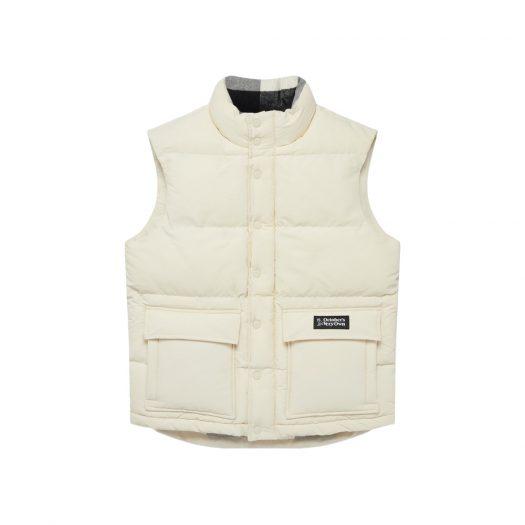 OVO Vintage Puffer Vest Cream