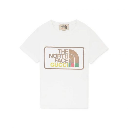 Gucci x The North Face Print Cotton T-Shirt Beige