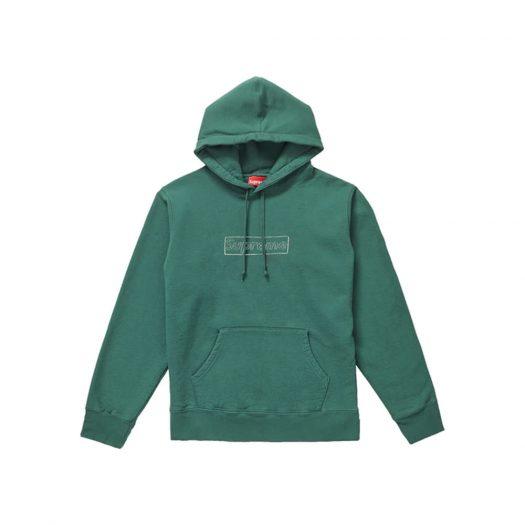 Supreme KAWS Chalk Logo Hooded Sweatshirt Light Pine