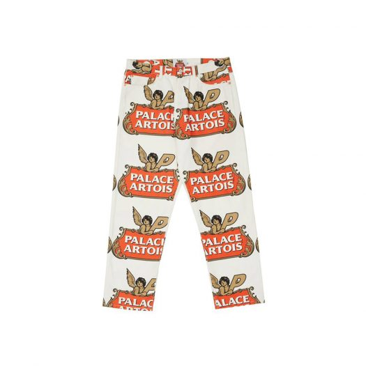Palace Stella Artois Pant White/Red/Gold
