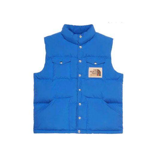 Gucci x The North Face Down Vest Blue