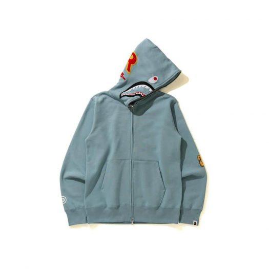 Bape Shark Full Zip Hoodie (Ss21) Gray
