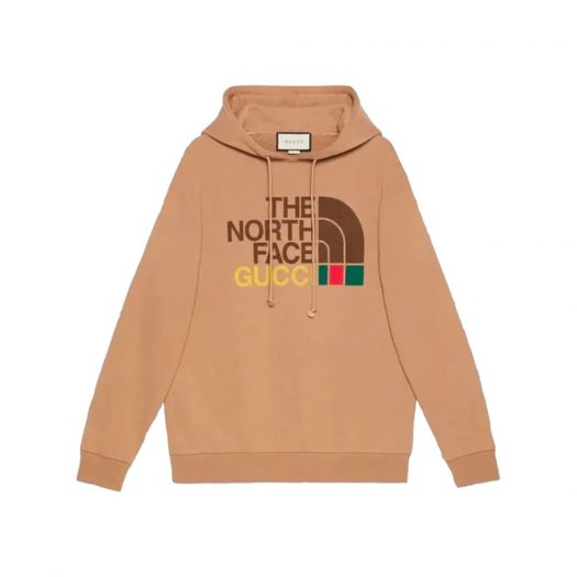 Gucci x The North Face Cotton Hoodie Brown