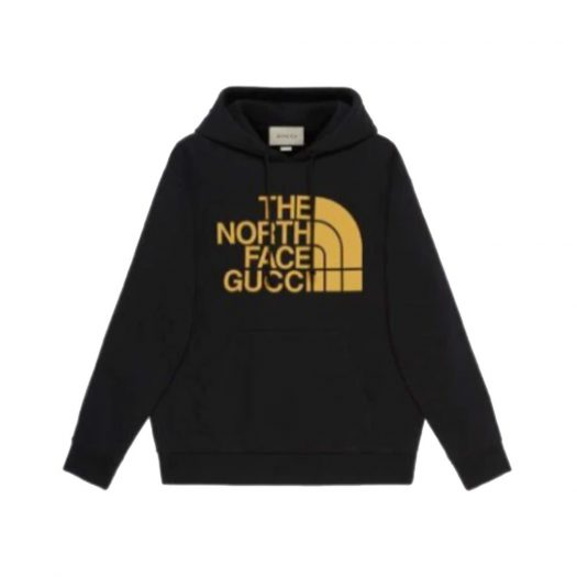 Gucci x The North Face Web Print Hoodie Black