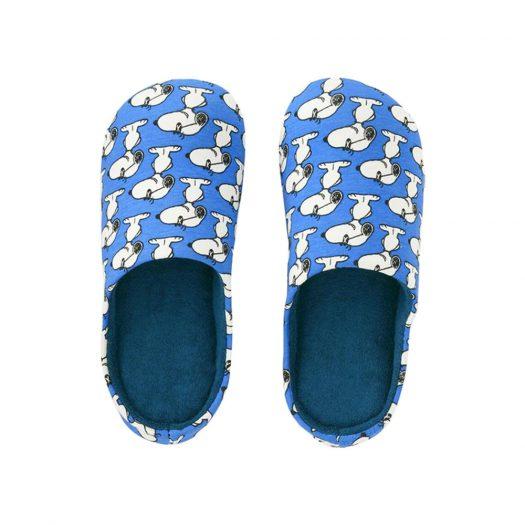 KAWS x Uniqlo x Peanuts Snoopy Room Shoes Light Blue